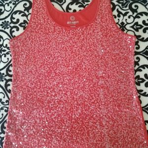 Old Navy sequined tank size XL